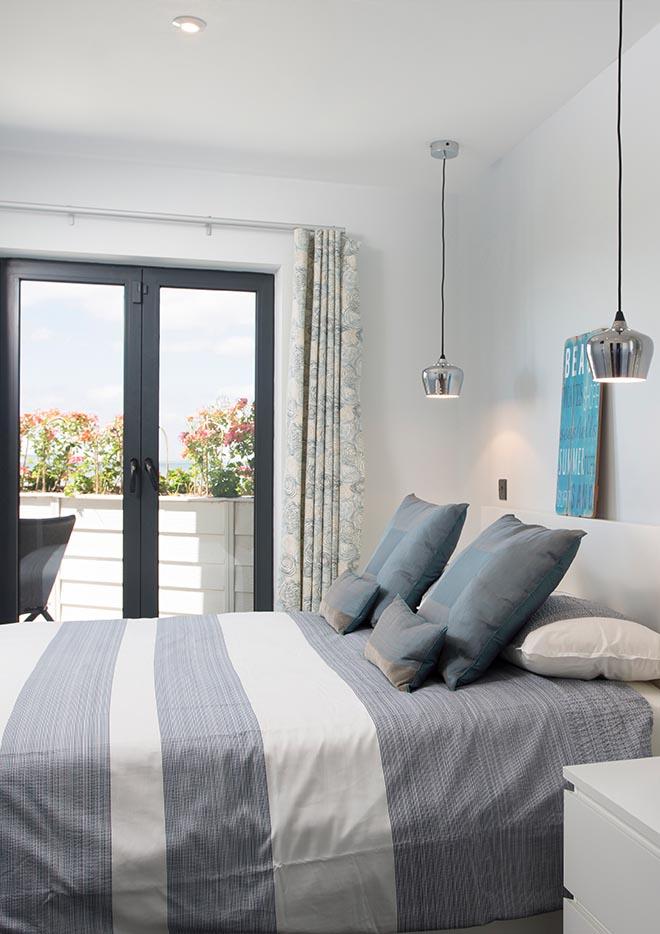Bedroom view onto balcony
